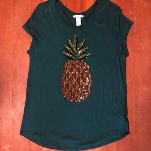 Sequin Pineapple shirt